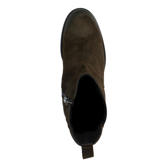 Chelsea boots en daim - vert foncé