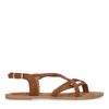 Sandales tressées en daim - marron