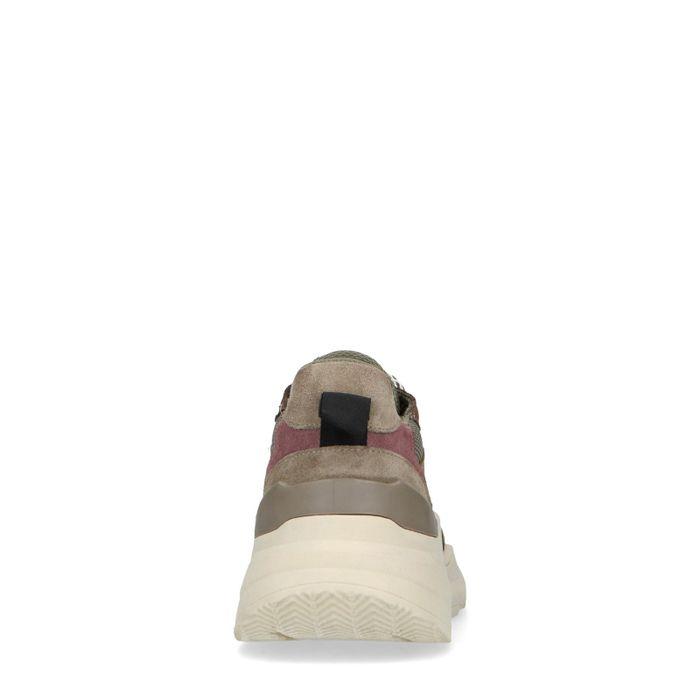 Baskets en daim avec semelle - kaki