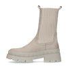 Chelsea boots en nubuck avec grosse semelle - beige