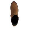 Chelsea boots en nubuck avec talon cubain - marron