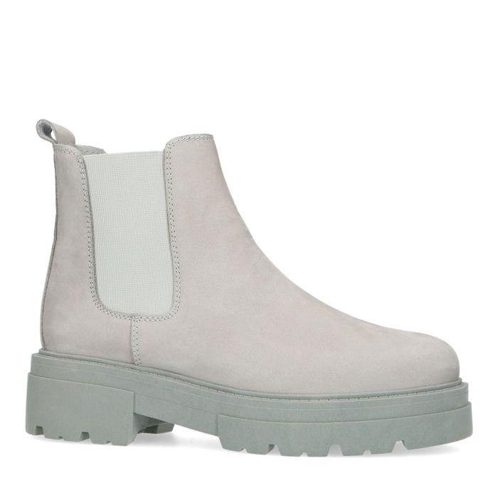 Chelsea boots basses en nubuck - gris