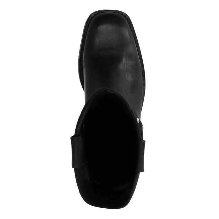 Bottes en nubuck avec boucle - noir