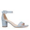 Sandales daim à talon - bleu clair