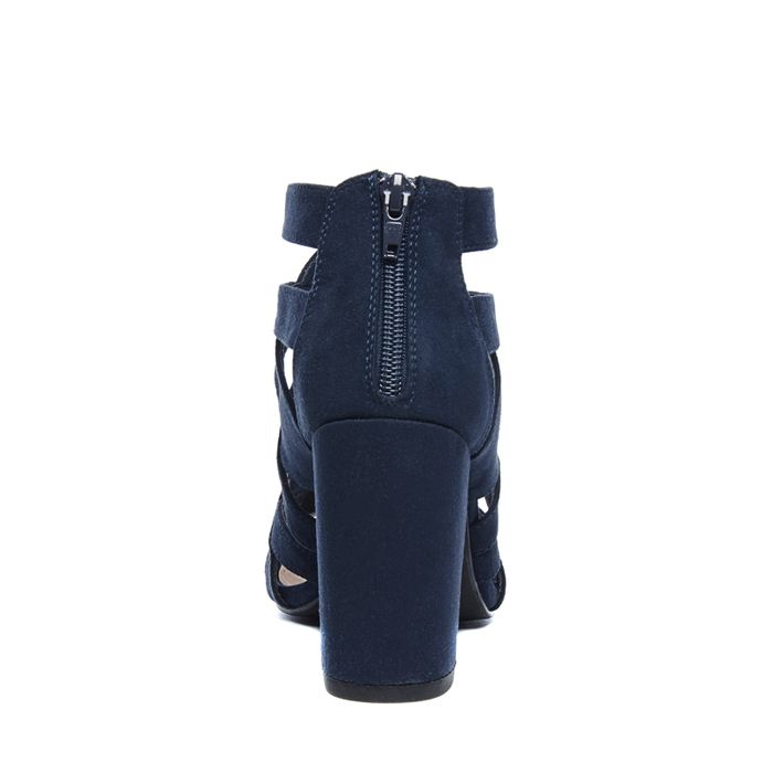 Sandales synthétique ajourées avec talon - bleu foncé