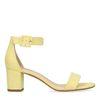 Sandales daim à talon - jaune