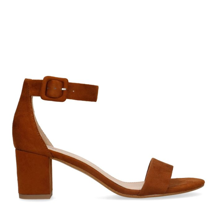 Sandales daim à talon - marron
