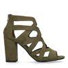 Sandales textile à talon - vert foncé