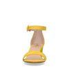 Sandales synthétique à talon - jaune
