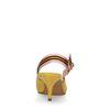 Escarpins slingback synthétique avec rayure sportive - jaune