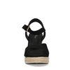 Sandales synthétique à talon compensé - noir