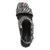 Sandales synthétique à talon avec imprimé zèbre