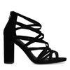 Sandales synthétique ajourées avec talon - noir