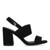 Sandales synthétique à talon - noir