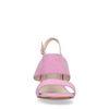 Sandales synthétique avec talon cubain - rose