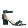 Sandales synthétique à talon et boucle - vert