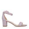 Sandales synthétique à talon - lilas