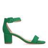 Sandales synthétique à talon - vert