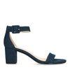 Sandales textile à talon avec denim - bleu