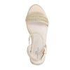 Sandales synthétique avec semelle compensée en corde tressée - beige