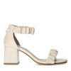 Sandales synthétique avec détails plissés - blanc cassé