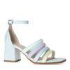 Sandales synthétique avec bandes colorées - bleu clair