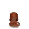 Mules synthétique avec imprimé croco - marron