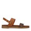 Sandales synthétique avec détail - marron