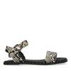 Sandales synthétique avec imprimé serpent et clous