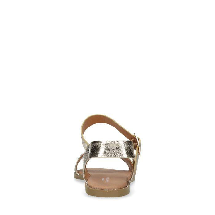 Sandales synthétique - doré