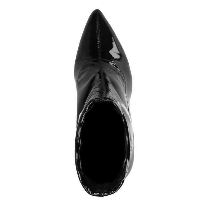 Bottines-chaussettes vernies - noir