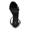Sandales synthétique verni à talon - noir