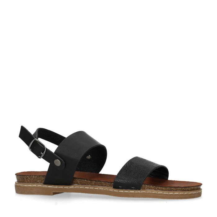 Sandales synthétique - noir