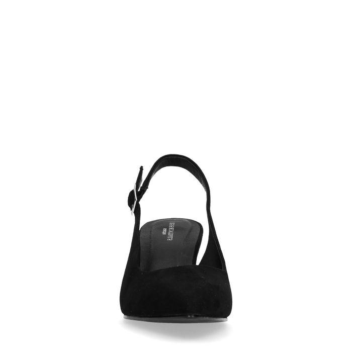 1e2d84b7eb490 Escarpins ouverts à l arrière avec petit talon - noir - femmes – SACHA