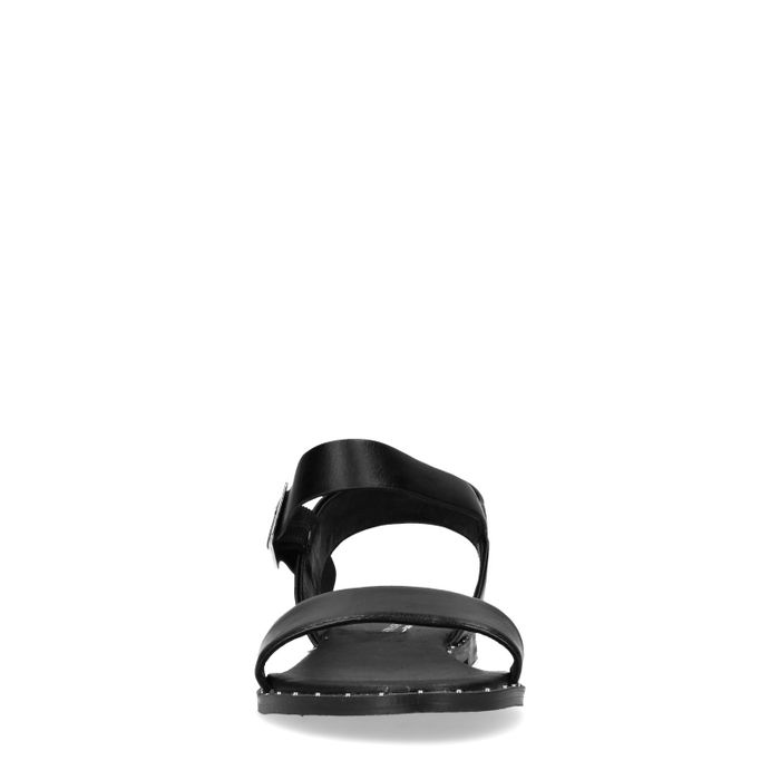 Sandales synthétique avec clous - noir