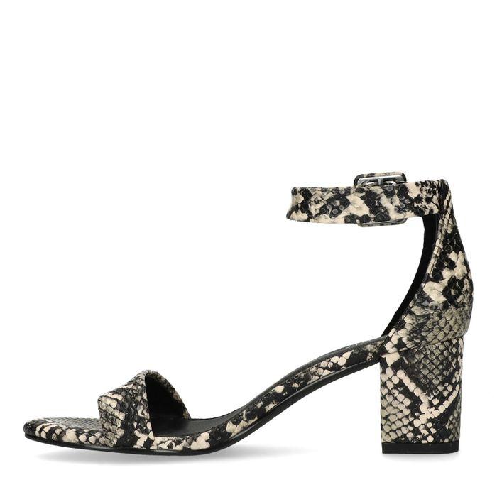 Sandales synthétique à talon avec imprimé serpent