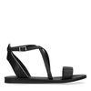 Sandales synthétique avec fermeture à boucle - noir