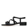 Sandales synthétique avec imprimé serpent - noir