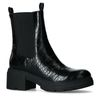 Chelsea boots synthétique avec imprimé croco - noir