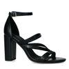 Sandales synthétique à talon haut - noir