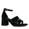 Sandales synthétique avec plusieurs bandes - noir