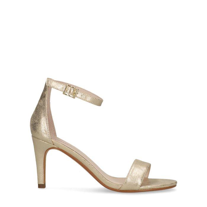 Sandales à talon métallisées - doré