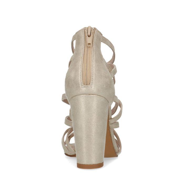 Sandales synthétique à talon - doré