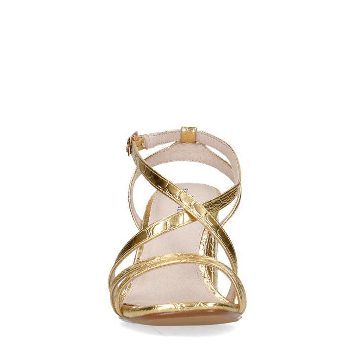 Sandales synthétique métallisées avec talon - doré