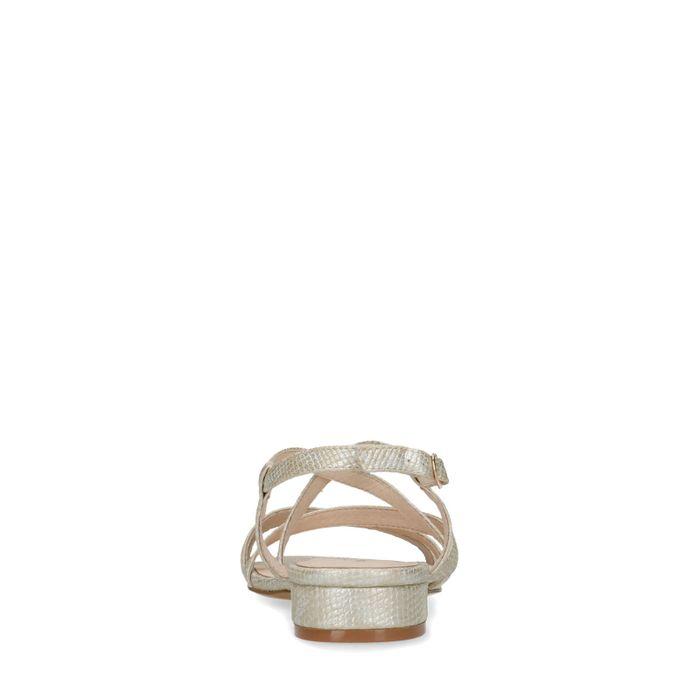 Sandales synthétique avec imprimé serpent - doré