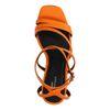Sandales synthétique à talon - orange
