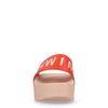 Claquettes à plateforme SWIM TONIC - rouge