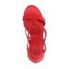 Sandales synthétique à talon haut - rouge