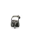 Escarpins ouverts à l'arrière avec petit talon et motif peau de serpent