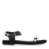 Sandales synthétique avec coquillages - noir
